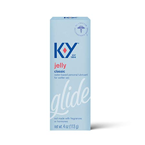 K-Y Jelly Lube, Personal Lubricant, Water-Based Formula, Safe to Use with Latex Condoms, For Men, Women and Couples, 4 FL OZ (Pack of 5)