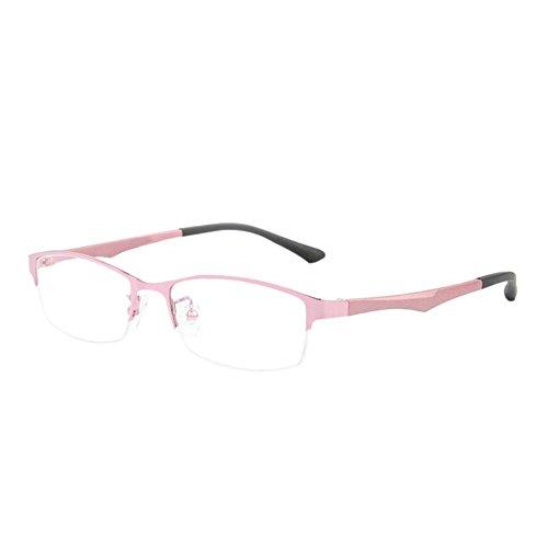 Haodasi Haodasi Metall Hälfte Rahmen TR90 Geschäft Kurzsicht Entfernung Brille Kurzsichtigkeit Myopia Kurzsichtig Brille -1.00~-6.00 mit Brille Box (Diese sind nicht Lesen Brille)