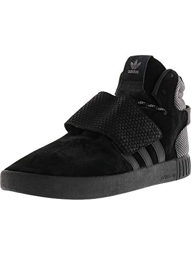 adidas Originals Mens Tubular Invader Strap Lace Up Hi Top Trainers- Negro - 7.5