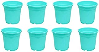 Novicz Sra-pot-nursery5-8pcs-green Plastic Nursery Garden Plant Pot, Green (Pack of 8)