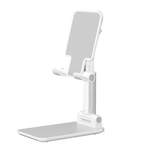 CVERY Teléfono Soporte Universal Mesa Escritorio Móvil Teléfono Soporte Plegable Ajustable Portátil Tablet Soporte - Blanco, Free Size