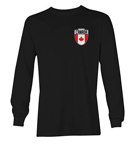 Canada Soccer Jersey - Canadian National Team Unisex Long Sleeve Shirt (Black, XX-Large)