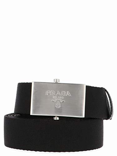 Prada Luxury Fashion Herren 2CN047BV1F0002 Schwarz Polyamid Gürtel | Herbst Winter 19