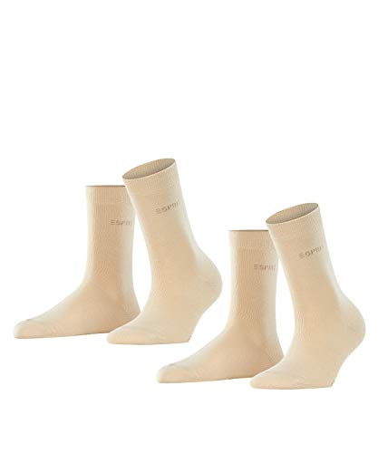 ESPRIT Damen Uni 2-Pack W SO Socken, Blickdicht, Elfenbein (Cream 4011), 39-42 (2er Pack)