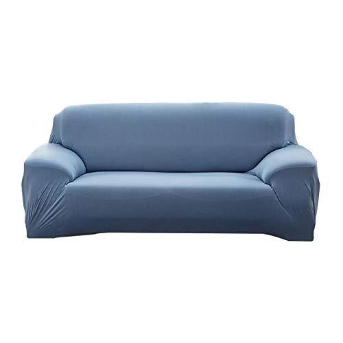 Stretch Kussenovertrekken SofaCovers,Effen kleur stretch bankhoes, 1/2/3/4 zits hoekbank handdoek-Sapphire_2-zits