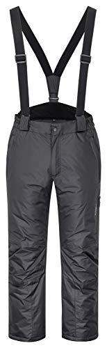 icefeld Herren Skihose/Snowboardhose/Schneehose, schwarz in Größe XL