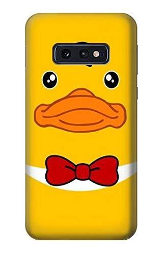 Innovedesire Yellow Duck Tuxedo Cartoon Hülle Schutzhülle Taschen für Samsung Galaxy S10e