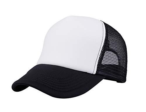 Leisial Mujer Casual Gorra de Béisbol de Viajes Hats Hip-Hop Sombrero Sol al Aire Libre Tenis Deporte Golf Verano para Unisex Hombre Mujer,Negro