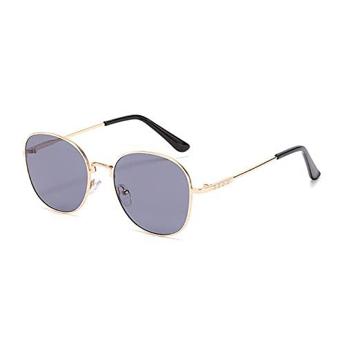 LWZ Gafas de sol de metal con marco retro, 4