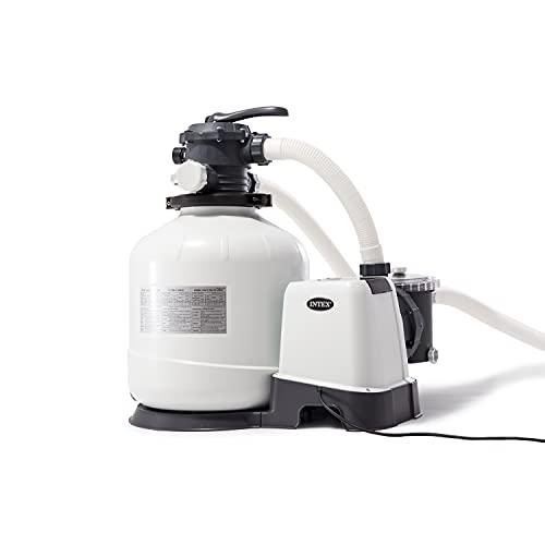 Intex Recreational Inc. 26651EG Intex-3000 Gph Sand Filter Pump W/GFCI (110-120 Volt) Pool, 16 in, light gray