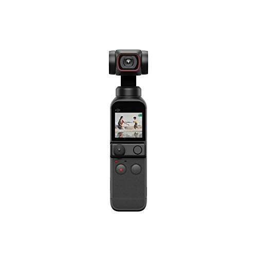 """DJI Pocket 2 - Handheld 3-Axis Gimbal Stabilizer with 4K Camera, 1/1.7"""" CMOS, 64MP Photo, Pocket-Sized, ActiveTrack 3.0, Glamour Effects, YouTube TikTok Video Vlog, for Android and iPhone, Black"""