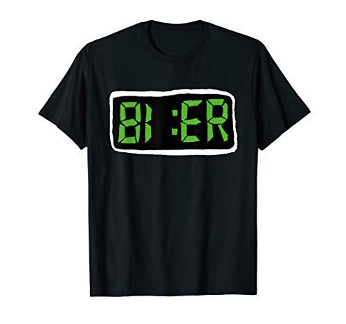 Bier | Digital LCD | Bier Uhr | Fun T-Shirt