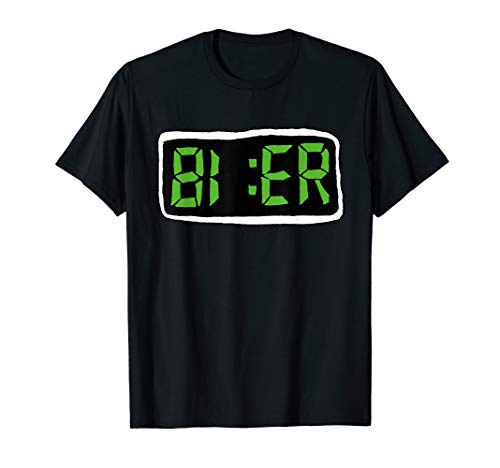 Bier | Digital LCD | Bier Uhr | Fun T-Shirt
