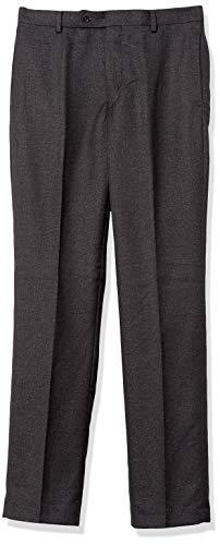 Kitonet Men's Slim Fit Textured Pant, Charcoal, 32