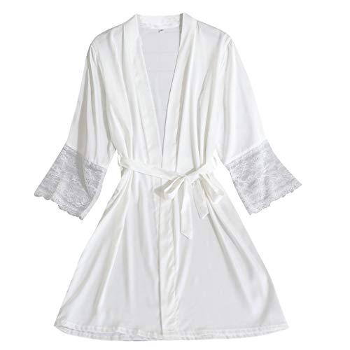 Aoogo Damen Sexy Unterwäsche Set Reizwäsche Negligee V-Ausschnitt Nachtkleid Spitze Nachthemd Sleepwear Kleid
