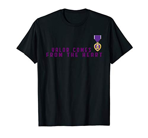 Valor Comes From The Heart Purple Heart US MIlitary Gift