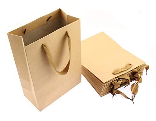 Olive-G シンプル 無地 手提げ 紙袋 10枚セット ギフトバッグ BROWN