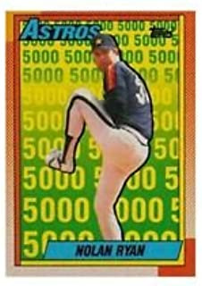 1990 Topps 5000 K's Nolan Ryan #4 Houston Astros Baseball Card