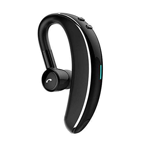 WHSS Bluetooth Headset Auriculares Inalámbricos, Auriculares Bluetooth con Micrófono Auriculares Impermeables con Rotación De 180 ° Auriculares Inteligentes con Reducción De Ruido (Color : Black)