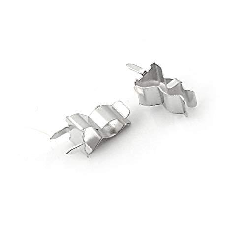 100 piezas PCB montaje de soldadura 5X20mm portafusibles Clip chasis 5Mm * 20Mm latón estañado 0,4 Mm de espesor