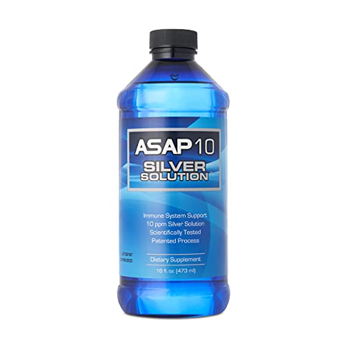 American Biotech Labs - ASAP 10 Silver Solution - Immune System Support, 10 ppm Silver Solution Dietary Supplement - 16 fl. oz.