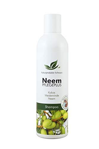 Naturprodukte Schwarz - Neem Pflegeplus Shampoo - Neemöl, Weidenrinde & Kokos Extrakt - Ohne Silikone, 250ml