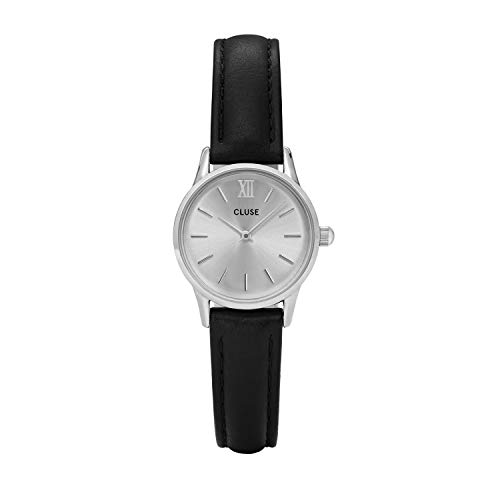 Cluse Unisex Erwachsene Digital Quarz Uhr mit Leder Armband CL50014