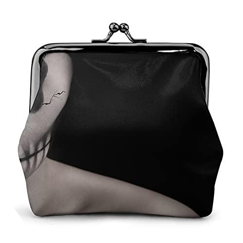 Cartera con diseño de calavera, 35 unidades, para mujer, con hebilla, monederos, bolsa de maquillaje, color negro, talla única