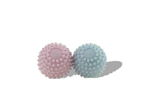 Meliconi, BucatoSoft asciugatrice per ammorbidire e ridurre Tempi di Asciugatura, 2 Palline, Rosa e Azzurro, s