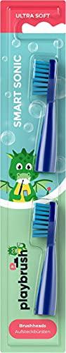 Playbrush Smart Sonic Aufsteckbürsten Original, 2er Pack, Mehrfarbig
