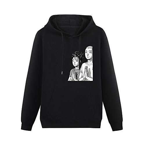 BKOGAL Nishinoya Tanaka Prayer Haikyuu Hoodies Pullover Hooded Sweatshirt with Pockets Black