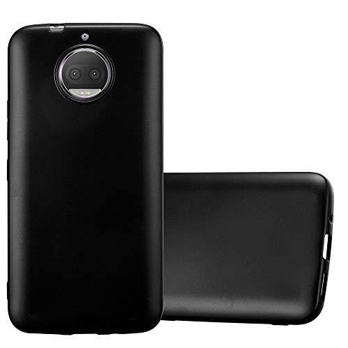 Cadorabo Custodia per Motorola Moto G5S Plus in Nero Metallico - Morbida Cover Protettiva Sottile di Silicone TPU con Bordo Protezione - Ultra Slim Case Antiurto Gel Back Bumper Guscio