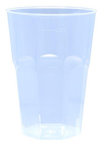 30x Cocktail Becher mit 300ml edle 6-eckige Form