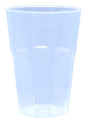 30x Cocktail Becher mit 300ml edle 6-eckige Form