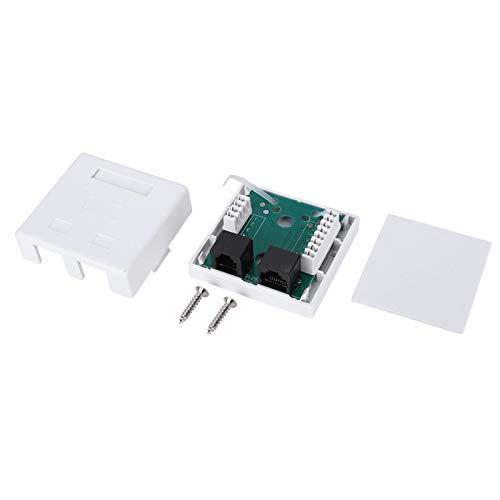 Caja de Enchufe Keystone RJ45 + RJ11 Adaptador de Empalme de Conector de Pared Caja de Montaje de Cable de extensión de Escritorio de 2 Puertos