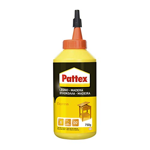 Pattex Pegamento express para madera, resistente al agua y tracción, 750gr ✅