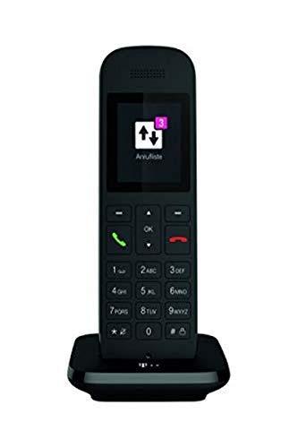 Telekom Festnetztelefon Speedphone 12 in Schwarz schnurlos | Zur Nutzung an aktuellen Routern mit DECT-CAT-iq Schnittstelle (z.B. Speedport, Fritzbox), 5 cm Farbdisplay