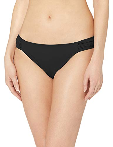 Amazon Essentials Women's Side Tab Bikini Swimsuit Bottom, Black, S