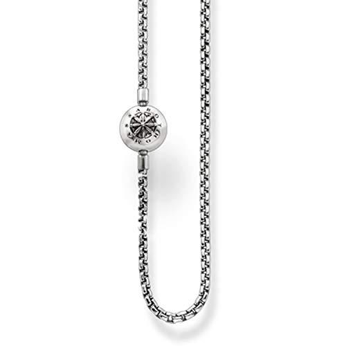 Thomas Sabo Karma Beads, Unisex, Collana, argento sterling 925 niellato
