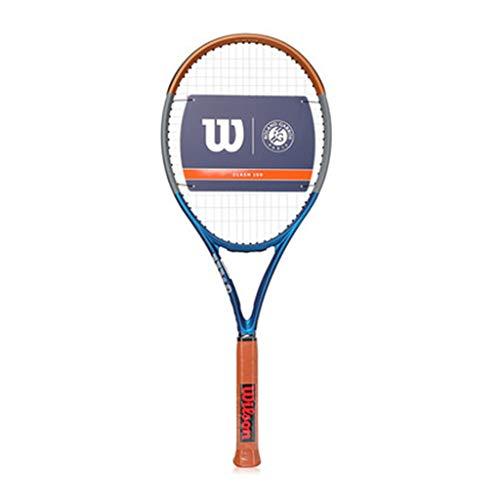Racchetta da tennis Professionale Carbon Racchetta Racchetta Tennis Maschile Professionista Racket Singolo Serie all-Round Carbon One (Color : Blue, Size : 27in)