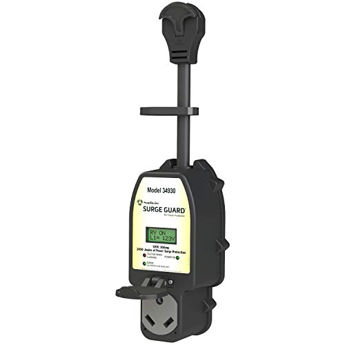 Southwire Black 34930 Surge Guard 30A-Full Protection Portable with LCD Display