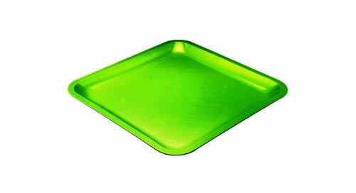 Zak ! Designs 0204-0844E Seaside - Bandeja Cuadrada de melamina (21,5 cm), Color Verde