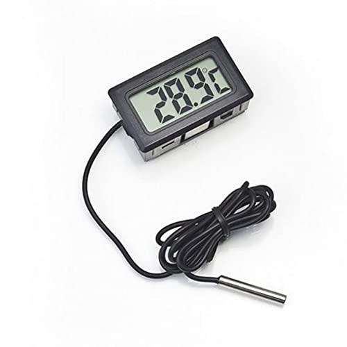 DDyna Termómetro Digital LCD sin Caja de Venta al por Menor, Termómetro Digital electrónico Integrado Fy-10 Termómetro electrónico Digital para refrigerador Termómetro Digital
