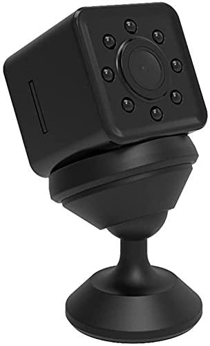 Mini Sports Dv 1080P HD Cámara de acción videocámara con 155 grados de gran angular compatible con WiFi Monitoreo HD visión nocturna Tv-Out 30M impermeable negro JIADUOBAO (Color: Negro)