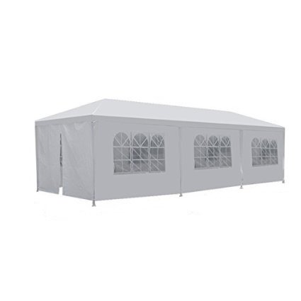 Smartxchoices Outdoor Camping Party Wedding Tent Patio Tent Gazebo Canopy with Side Walls (White,10' 30') …