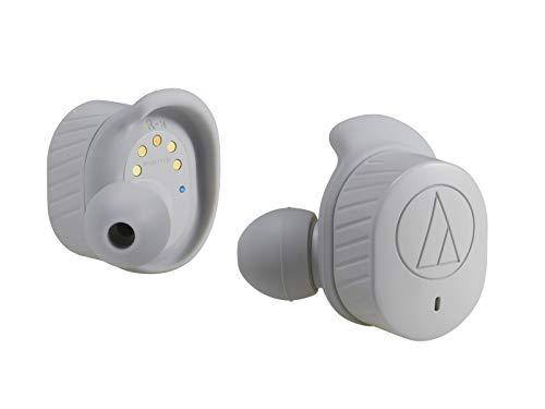 audio-technica完全ワイヤレスイヤホン防水スポーツ向けBluetoothマイク付き左右分離型グレーATH-SPORT7TWGY