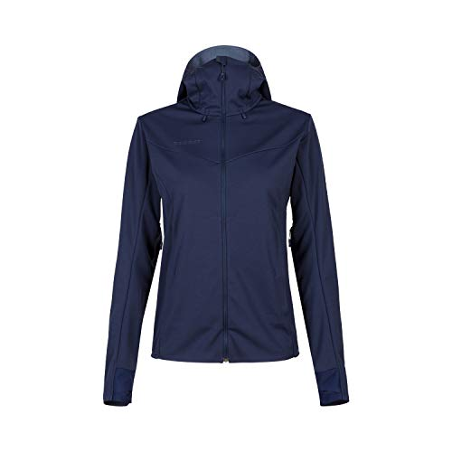 Mammut Damen Softshell-jacke Mit Kapuze Ultimate V Hooded, blau, M