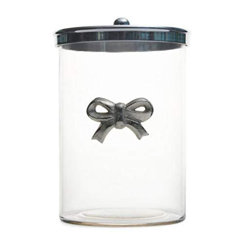 Riviera Maison - Vorratsglas, Glas - mit Metalldeckel - Schleife - Aluminium, Glas - 19 x 25 cm