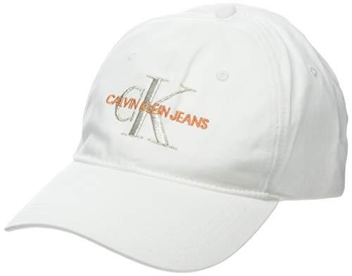 Calvin Klein J Monogram Cap W Gorra de béisbol, Blanco (Bright White...
