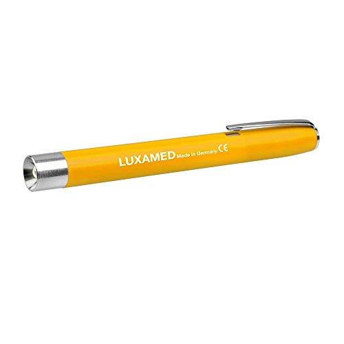 Luxamed Diagnostikleuchte mit LED Pupillenlampe Pupillenleuchte 3,3 Volt gelb inkl. 2 AAA Batterien
